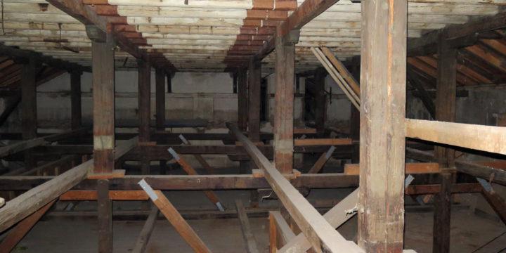 Průzkum krovů bývalého lihovaru v Uherském Ostrohu