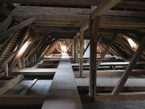 Znojemský hrad - krov.
